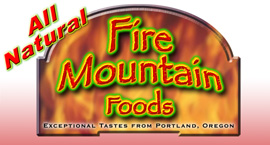Logo design for Fire Mountain Foods utilizing Photoshop and Corel Draw